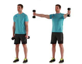 Scaption  http://www.menshealth.com/fitness/best-traps-exercises/overhead-barbell-shrug