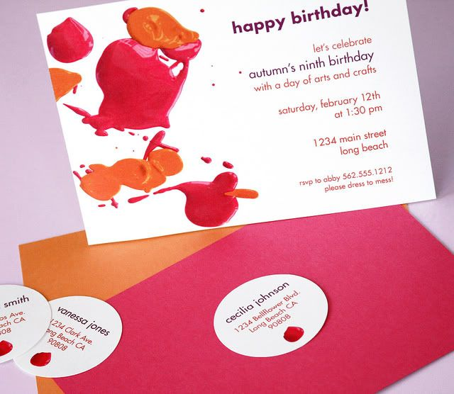 Art/Painting Birthday Party submitted by Paper & Cake ... the fun invite.: Art Parties Invitations, Art Party, Paintings Parties, Art Birthday, Birthday Parties, Artpaint Parties, Kids Art, Parties Ideas, Artists Parties