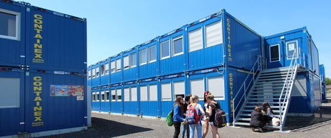 Hire cabins - School extension