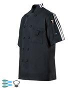 CookCool Stripe #SMART Chef Coat - Happy Chef Uniforms- $19.95