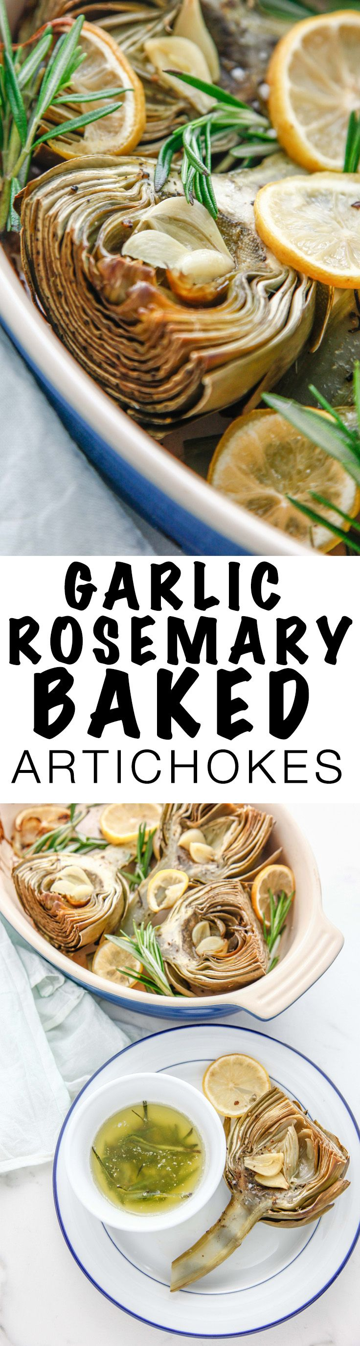 Get ready to bake your favorite spring vegetable with this Garlic Rosemary Baked Artichoke recipe. Make these veggies your new favorite Italian inspired dish!