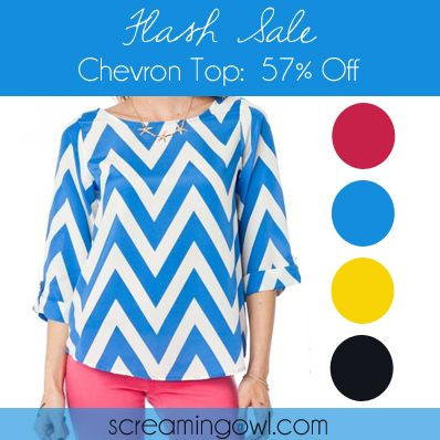 Flash Sale!  Chevron shirts in 4 colors!   I just purchased mine. Cant wait to get it here now.
