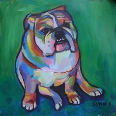 easy chalk pastel drawings of bulldogs step by step - Google Search
