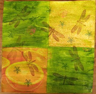 A Pretty Talent Blog: Scrapbook Paper 3 Acrylic paint as an adhesive