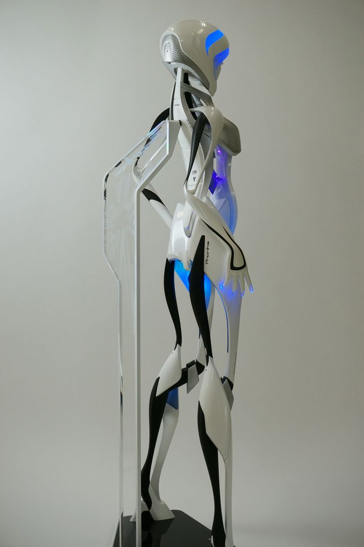 Phonika   Advanced Humanoid (android, robot) concept model. made by electro hyper polymer plastic