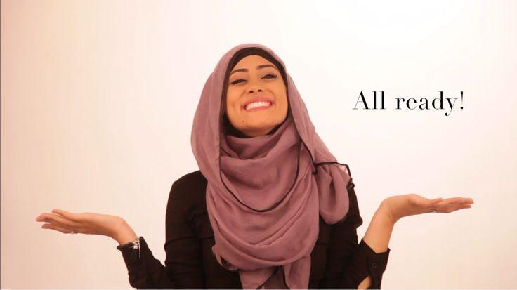 Blush Viscose Hijab Tutorial