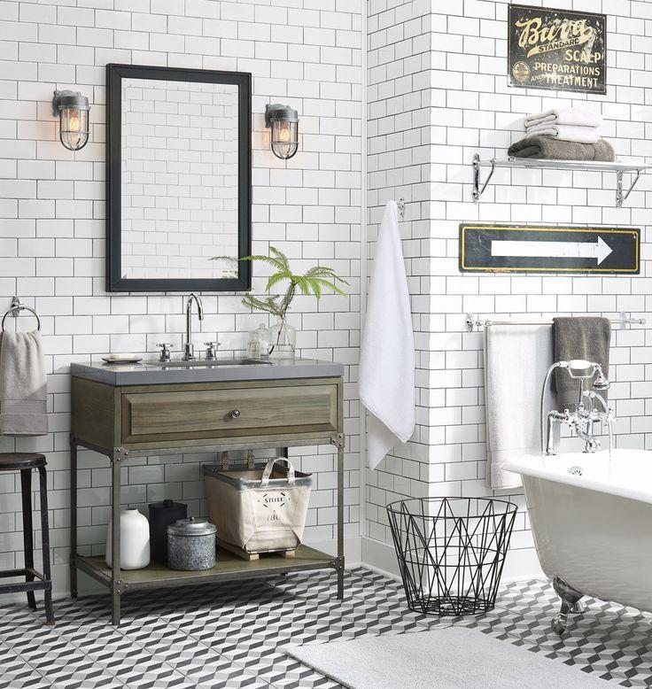 10 Lighting Designs For Your Industrial Bathroom Vintage Industrial Bathroom Industrial Bathroom Decor Vintage Bathrooms