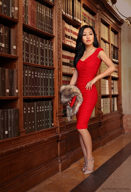 asos red dress boston public library6 by PetiteAsianGirl, via Flickr