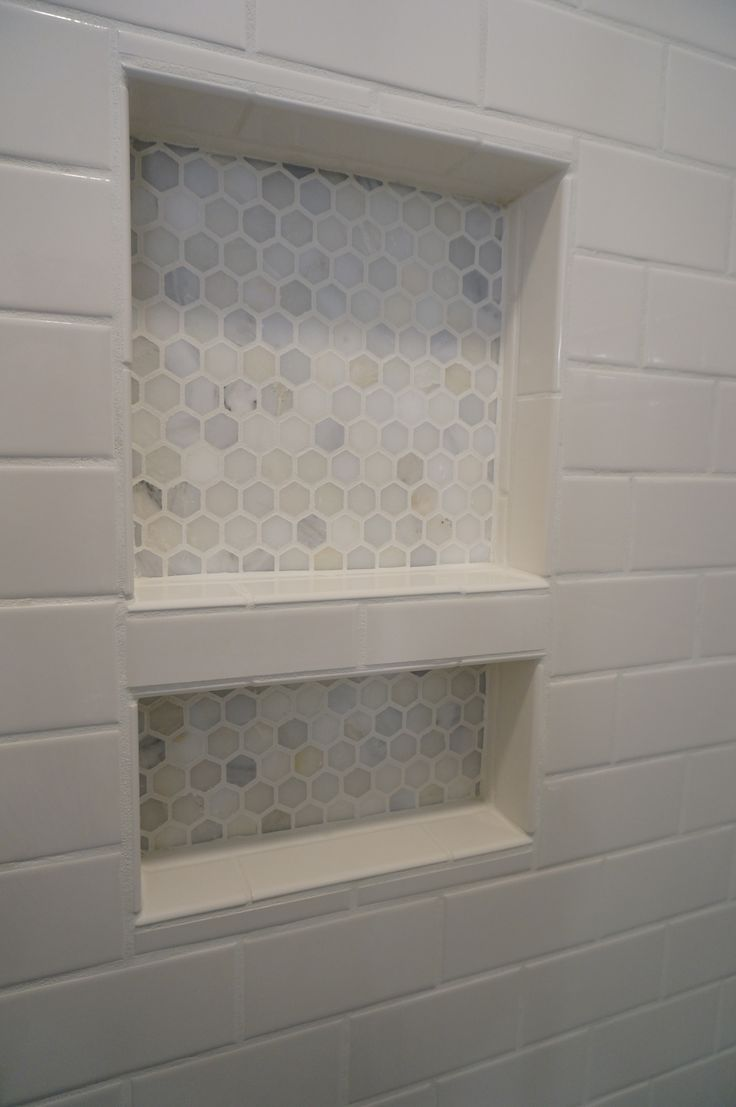 Ceramic shower niches