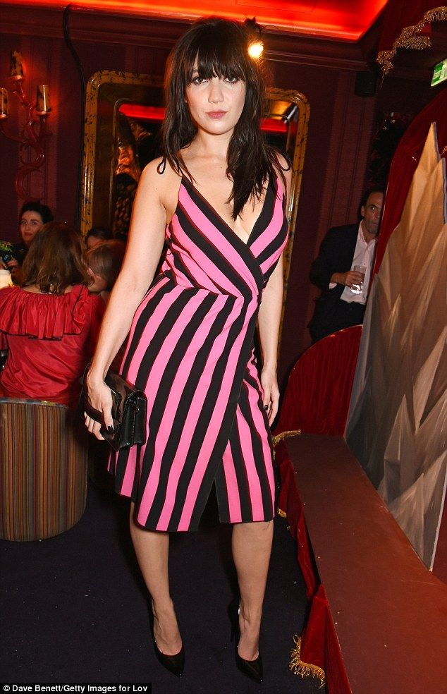Colourful: On Monday evening model Daisy Lowe  attended a LOVE Magazine party at the exclusive private members club Loulou's during London Fashion Week