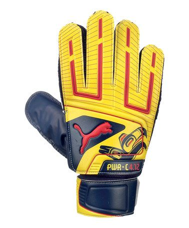 Take a look at this Yellow & Blue PowerCat 4.12 Grip Goalie Gloves by PUMA on #zulily today! $9 !!