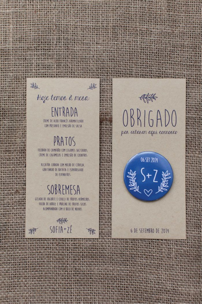 ADORO Wedding Menu // Rustic WeddingADORO