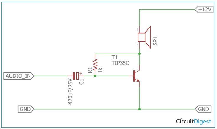 12V Audio Power Amplifier Circuit Diagram | Power ...