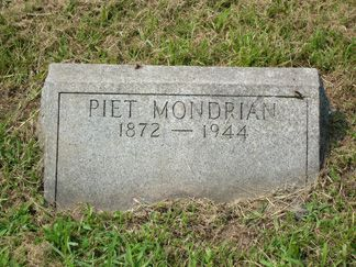 Mondrian was buried at Cypress Hill Cemetary.