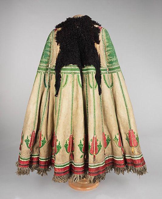 Cape Date: 1840–70 Culture: Hungarian Medium: leather, wool
