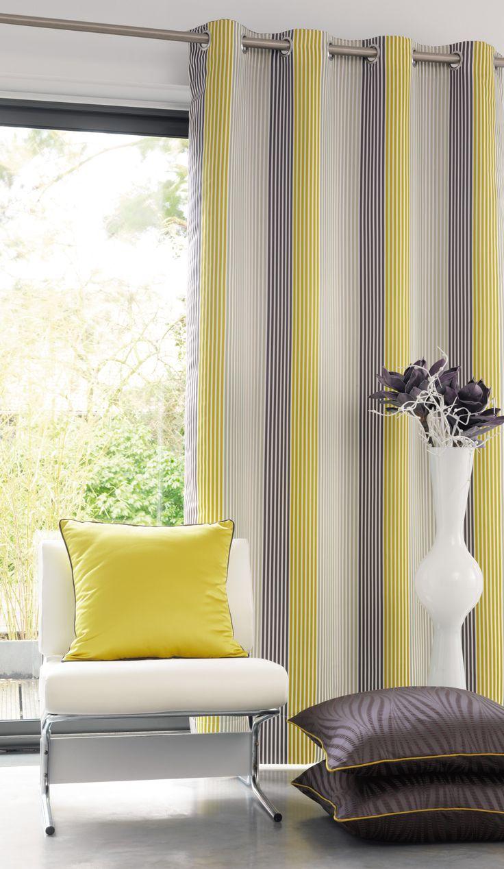Oltre 1000 idee su rideau jaune su pinterest rideau - Rideau jaune et blanc ...