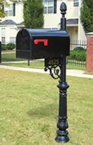 wrought iron mailbox post wrought scroll mailbox outdoor pretties 1666