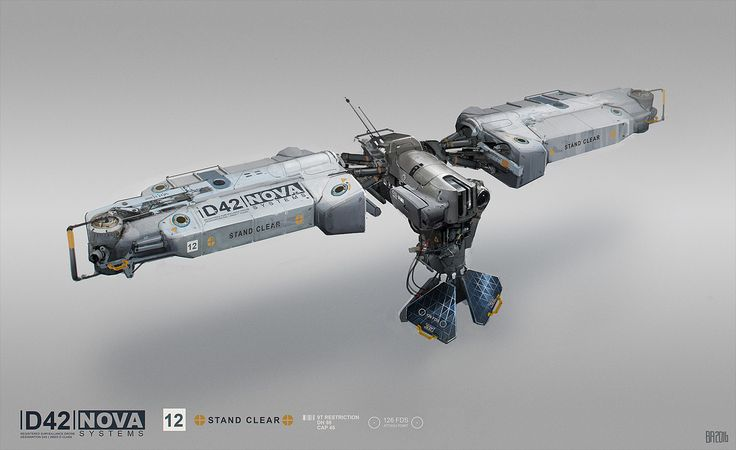 Nova drone, Ben Andrews on ArtStation at https://www.artstation.com/artwork/aLNEX