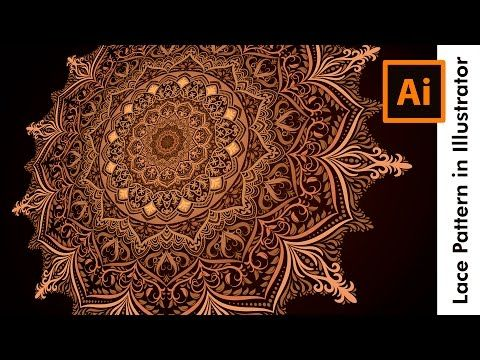 How to draw a Colorful Lace Pattern in Adobe Illustrator - YouTube