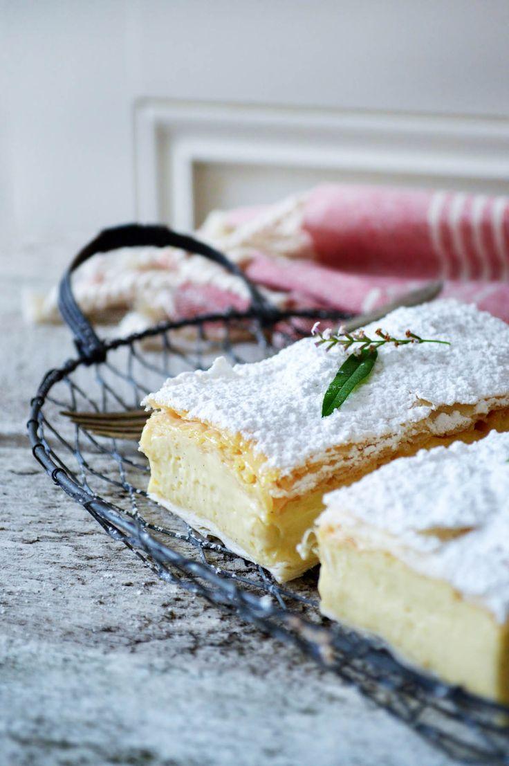 Lemon verbena vanilla slice | heneedsfood.com