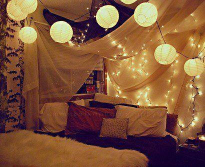 Die besten 25+ Weihnachtsbeleuchtung im Schlafzimmer Ideen auf