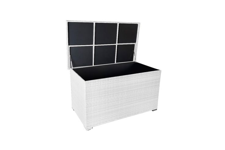 auflagenbox kissenbox gartentruhe polyrattan garten auflagen box ca 800 l innenvolumen ca. Black Bedroom Furniture Sets. Home Design Ideas