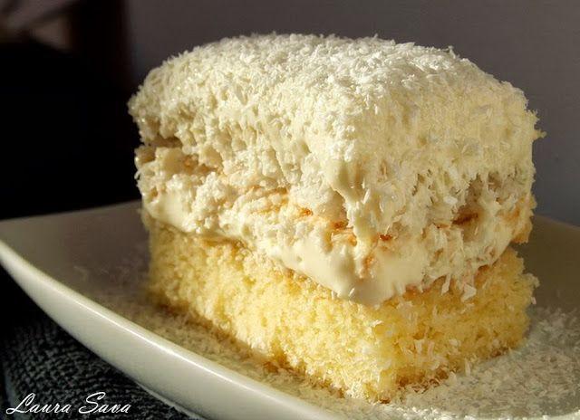 Prajitura Raffaello | Retete culinare cu Laura Sava - Cele mai bune retete pentru intreaga familie