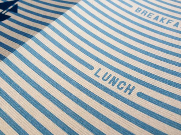 Unwind Cafe Menu by Bayley Design, via Behance