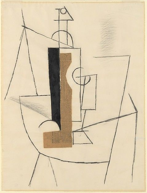 """Pablo Picasso (1881-1973), """"Bottle and Wine Glass on a Table"""" - The Metropolitan Museum of Art ~ New York, New York, USA"""