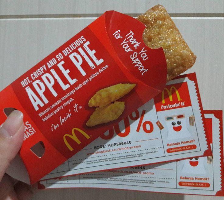 thanks #cgpro3  .  . #applepie #applepiemcd #mcdonalds #kekinian #apple #pie #pastry #friday #imlovinit #voucher #instafood