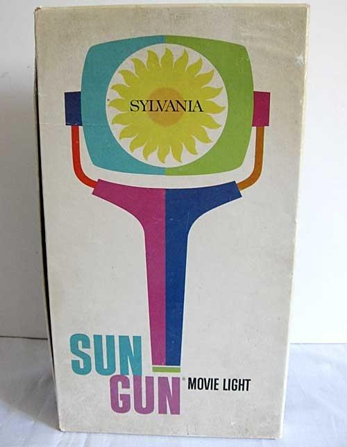 Mid Century Modern Vintage Sylvania Sun Gun Movie Light In Box Sixties Design Photography