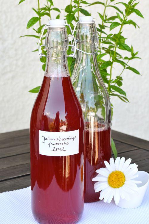 Johannisbeersirup mit Traubenzucker fructosefrei