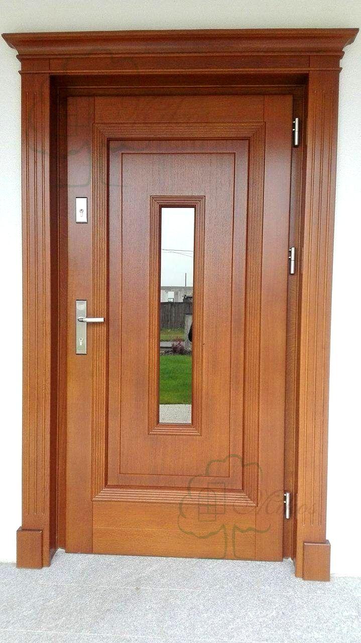 Drzwi wejściowe stylowe z koroną