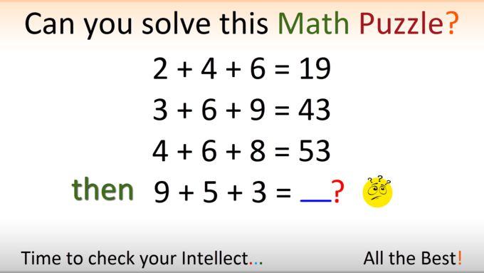 Hardest Math Puzzle ever