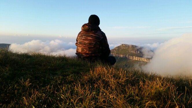 Sunrise at Omu peak, Bucegi mountains, Romania. 2509m altitude.