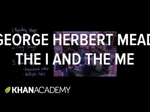 George Herbert Mead- The I and the Me - YouTube