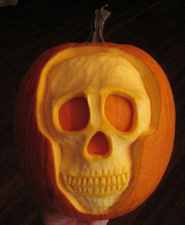 Skull pumpkin carving ideas crafty crafts pinterest