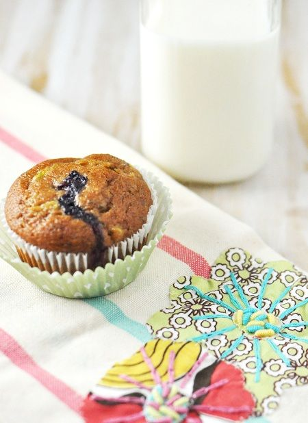 Blueberry zucchini chia muffins and 4 others healthy breakfasts: QUICK and EASY for busy mornings. #fitfluential