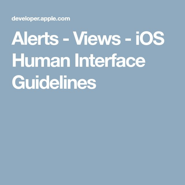 Alerts - Views - iOS Human Interface Guidelines