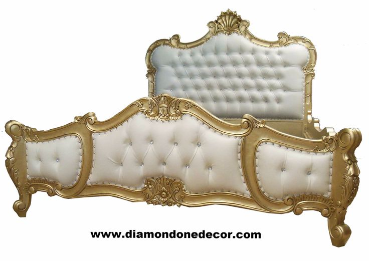 "Fabulous Baroque Rococo ""Felicia"" Gold Leaf Louis XVI Style French Reproduction Bed"
