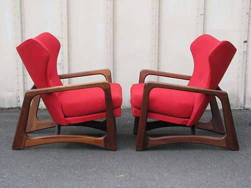 Pair Of ADRIAN PEARSALL Atomic Age LOUNGE CHAIRS