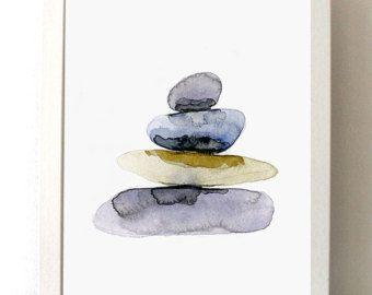 Surf schilderij giclee print golf illustratie door Zendrawing