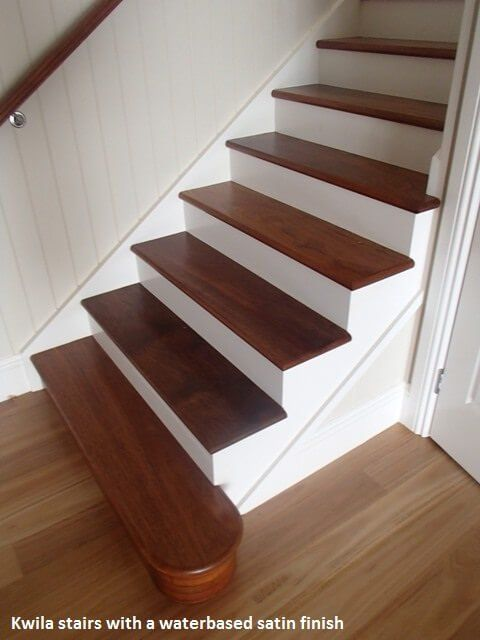 Floating timber treads