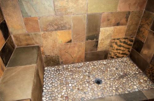 Easy To Make River Rock Shower Floor. Combine River Rocks