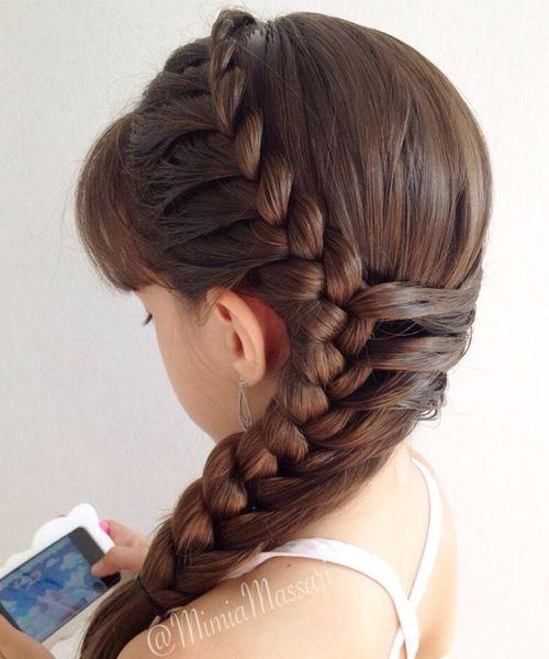 Astonishing 1000 Ideas About Little Girl Braids On Pinterest Girls Braids Hairstyles For Women Draintrainus