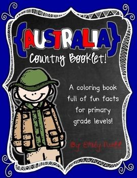 Australia Booklet (A Country Study!) -- Use during social studies units about countries around the world! TeachersPayTeachers