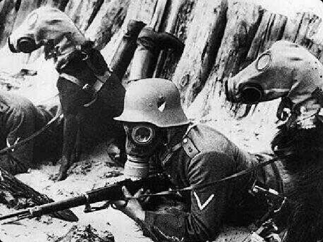 Perros con mascara de gas Primer Guerra Mundial