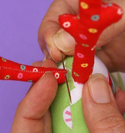 handige tips voor blind naaien, vullen, delen aan elkaar naaien.