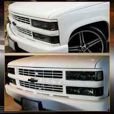 1994-1998 Chevy Silverado Tahoe Smoke Headlights Combo W/ Corner & Signal Lights