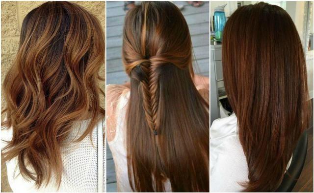 Orzechowy brąz na włosach - prosta czy kręcona fryzura?